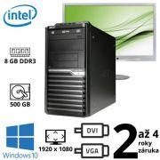 "Acer Veriton M2611G Intel G2030, 8GB, 500GB, W10 + 24"" Full HD Phillips Brilliance 241B4L"
