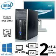 """HP Compaq 6300 Pro MT Intel G2020, 8GB, 250GB, W10 + 24"""" Full HD Acer B246HL"""