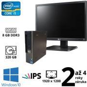 """Dell Optiplex 7010 USFF i5 3570S, 8GB, 320GB, W10 + 24"""" Full HD IPS LG Flatron 24EB23PM B"""