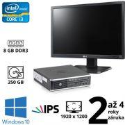 """HP Compaq 8300 Elite USDT i3 3220T, 8GB, 250GB, DVD RW, W10 + 24"""" Full HD IPS LG Flatron 24EB23PM B"""