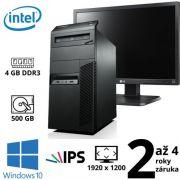 "Lenovo ThinkCentre M83 MT Intel G3220, 4GB, 500GB, DVD RW, W10 + 24"" Full HD IPS LG Flatron 24EB23PM B"