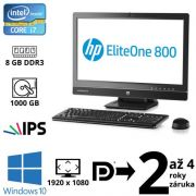 "HP EliteOne 800 G1 i7 4790S, 8GB, 1TB HDD, DVD RW, 23"" FHD, W10"