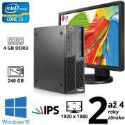 """Lenovo ThinkCentre M90p SFF i5 650, 4GB, NOVÝ 240GB SSD, DVD RW, W10 + 24"""" Full HD IPS LG Flatron 24MB35PM"""