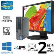 """Dell Optiplex 9020 USFF i5 4590S, 4GB, 250GB, W10 + 24"""" Full HD IPS LG Flatron 24MB35PM"""