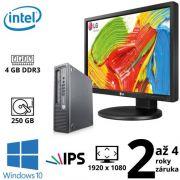 "HP EliteDesk 800 G1 USDT G3220, 4GB, 250GB, W10 + 24"" Full HD IPS LG Flatron 24MB35PM"