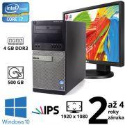 "Dell Optiplex 7010 MT i7 3770, 4GB, 500GB, W10 + 24"" Full HD IPS LG Flatron 24MB35PM + rozšíření na herní"