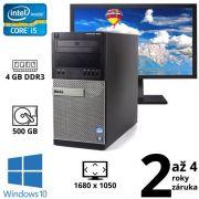 """Dell Optiplex 7010 MT i5 3470, 4GB, 500GB, DVD RW, W10 + 22"""" HD+ Dell Professional P2210t"""