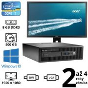 "HP EliteDesk 800 G1 i7 4770, 8GB, 500GB, W10 + 24"" Full HD Acer B246HL"