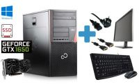 "Nejvýkonnější herní PC sestava Fujitsu P956 E94+ Intel Core i7 6700 / 8 GB RAM / 256 GB SSD / DVD / Ge Force GTX 1650 4 GB / 24"" monitor / Windows 10 2320sc 26"