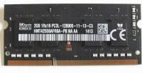 Operační paměť RAM DDR3 SODIM hynix 2GB PC3 12800S 1600MHz