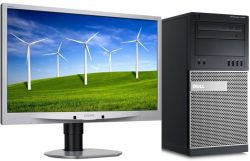 PC DELL Optiplex 7010 + LCD 24 Core i5 3.2 GHz 4GB RAM 500 HDD DVDRW Radeon HD 7470 (1GB) Windows 10 Pro + LCD 24 repase