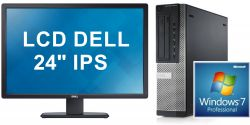 PC DELL Optiplex 9010 + LCD 24 IPS DELL Core i7 3.4 GHz 8GB RAM 500GB HDD DVDRW AMD 7470 (1GB) Desktop + LCD 24 DELL IPS repase