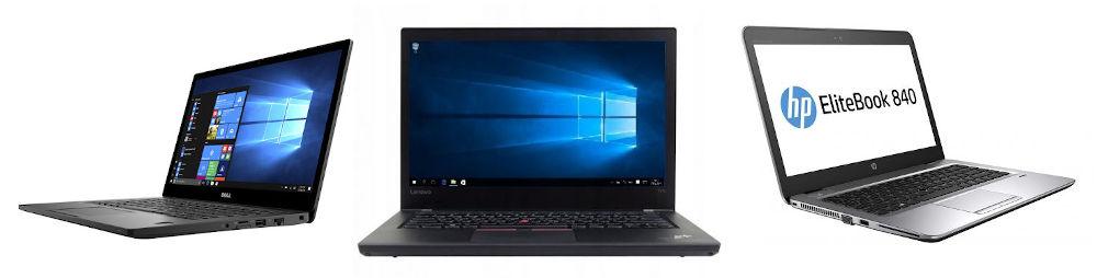Co se týče business notebooků, mezi repasovanými notebooky se setkáváme nejčastěji s triem výrobců - Lenovo, HP a Dell. V této recenzi vám pomůžeme zorientovat se v základních parametrech modelů se sedmou generací procesoru Intel Core. Všechny patří k vlajkovým lodím výrobce a ani jeden z uvedených modelů vás nezklame. Přesto se v některých rysech liší a níže uvedené srovnání vám může pomoct vybrat si model, který vám sedne nejlépe.